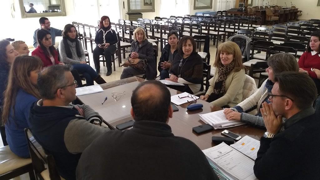 Laura Galluccio, recibió a varias representantes de la Fundación Vidanimal